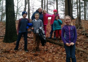 Third grade nature walk