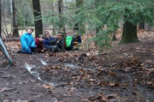 Rainy day streams in Kindergarten