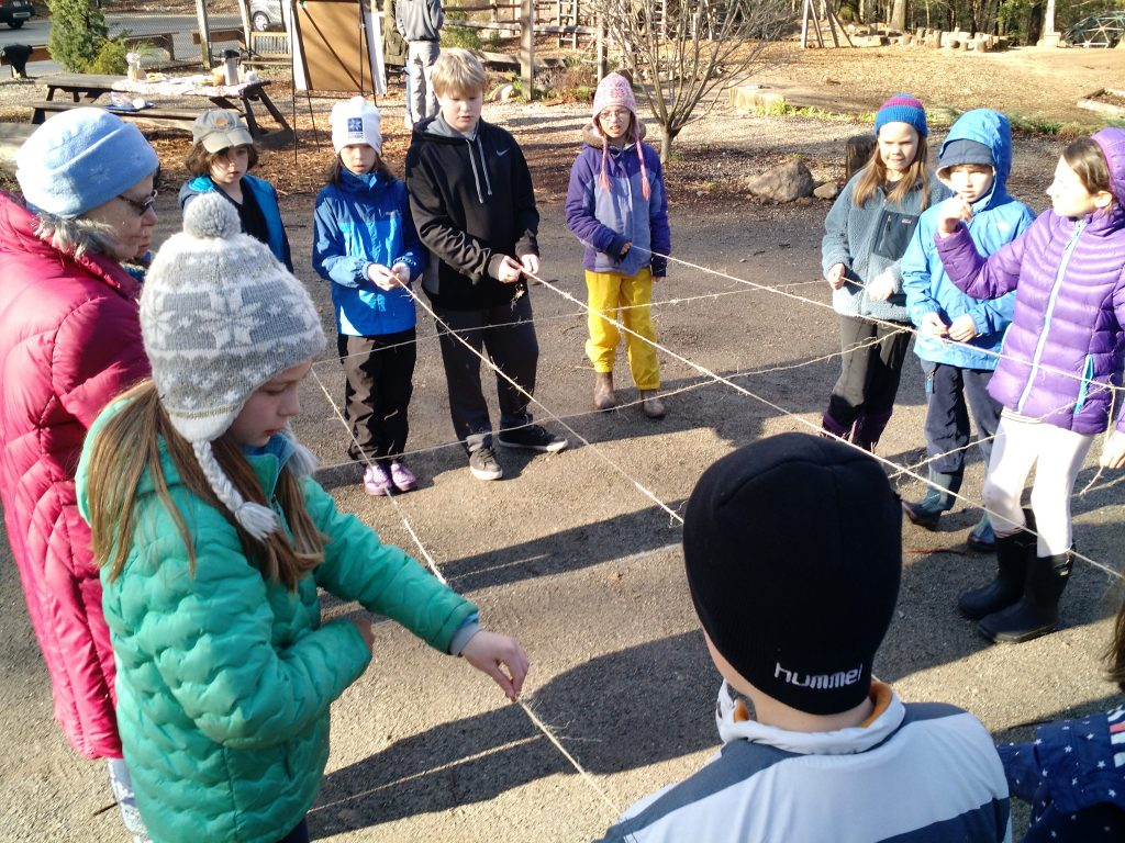 Fourth grade preparing the ice grid