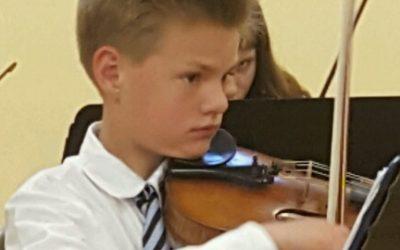 Eighth Grader Selected for Prestigious Junior Festival Orchestra